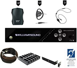 $3650 » Williams AV FM 557-12 PRO Large-Area Dual FM Plus Assistive Listening Systems with FM T55 Transmitter, (12) PPA R37N Receivers, (12) EAR 022 Earphones, (3) NKL 001 Neckloops