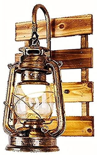 JeeKoudy Vintage Hurricane Wall Light Iluminación Industrial Retro Iron Art Lámpara de Pared de Metal Aplique de Interior para el hogar Luminaria con Pantalla de Vidrio E27 Storm Lante