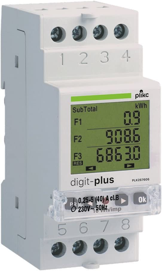 plikc PLK267606 - Contador digital de energía monofásico multibanda horaria Digit Plus