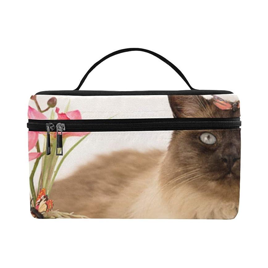 まつげエキゾチック配管LNJKD メイクボックス フラワーポット 猫 コスメ収納 化粧品収納ケース 大容量 収納ボックス 化粧品入れ 化粧バッグ 旅行用 メイクブラシバッグ 化粧箱 持ち運び便利 プロ用