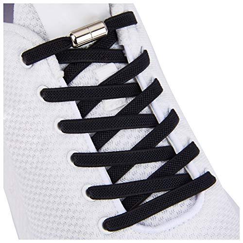 Tieless Elastic Shoe Laces, No Tie Shoelaces for Kids/Adults Black