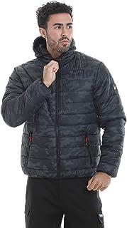 Lee Cooper Workwear Camo Print Slim Fit Lightweight Showerproof Windproof Thermal Padded Work Jacket
