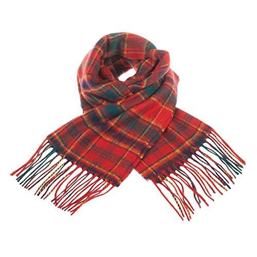 Clans of Scotland - Sciarpa in pura lana vergine, motivo Tartan Munro Taglia unica