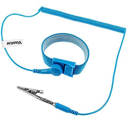 Vastar ESD Anti-Static Wrist Strap Components, Blue