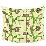 Rkmaster delgado lento loris perezoso animal kawaii pared colgante decoración de la pared colcha tapiz colcha sábanas cortinas sala de estar | tapices |