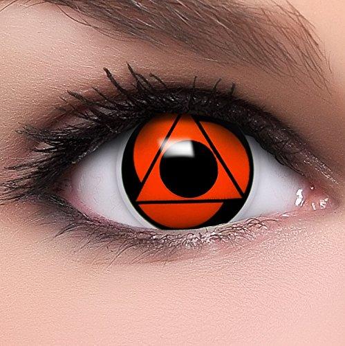 Sharingan Kontaktlinsen Baru's Mangekyou in rot inkl. Behälter - Top Linsenfinder Markenqualität, 1Paar (2 Stück)