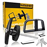Natasher T-Handle Lock Kit, 5-1/2' Black Shed Door Lock with 4 Keys and 2 Screws, Barn Door Lock, Playhouse Lock & Chicken Coop Lock -1pcs