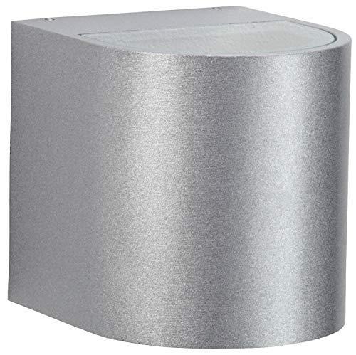 Nr. 2402 silber, Lichtaustritt breit/breit, 2 x LED 6,7 W, je 600 lm, 3000 K