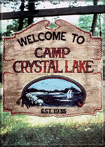 Ata-Boy Friday The 13th Camp Crystal Lake 6,3 x 8,9 cm Magnet für Kühlschränke und Schließfächer