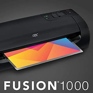 GBC Thermal Laminator Machine, Fusion 1000L, 12 Inch, 4 Min Warm-up, 3 or 5 Mil, with 10 EZUse Laminating Pouches (1703073)