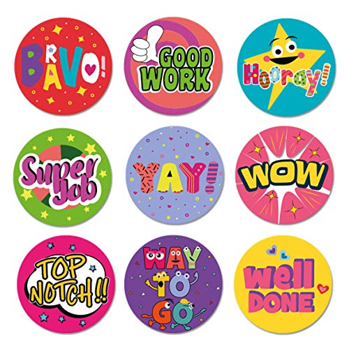 Sweetzer & Orange Reward Stickers for Kids. 1008 Stickers for Teachers in 9 Designs. 1 Inch School Stickers on Sheets. Teacher Supplies for Classroom, Motivational Stickers, Potty Training Stickers