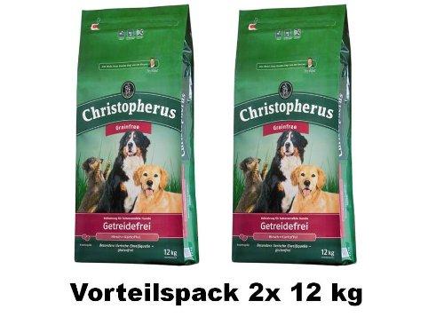 2 x 12 kg | Allco | Christopherus Getreidefrei Hirsch + Kartoffeln