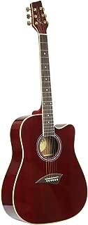 transparent red guitar finish