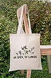 bolsa de lona Harajuku no lluvia No hay flores Ladies Shopper Bolsos Bolso Flower Estética Gráfico Lienzo Bolsas Bolsas Totes de gran capacidad (Color : B1789 TBWH M)