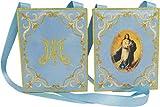 Escapulario azul de la Inmaculada Concepción | 10 x 8 cm.
