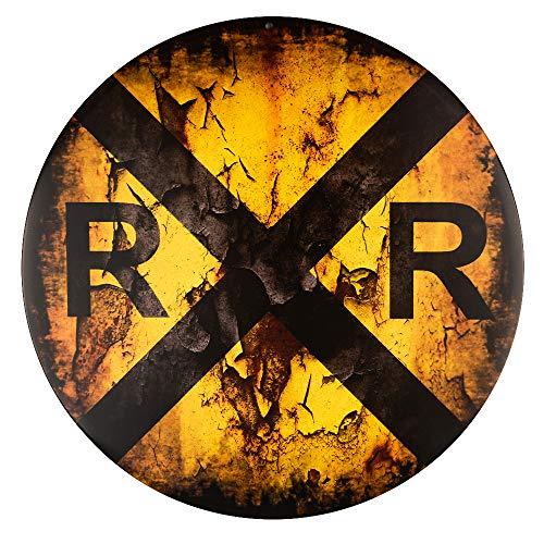 dojune-Vintage Railroad Crossing Wholesale Novelty Metal Circular Sign