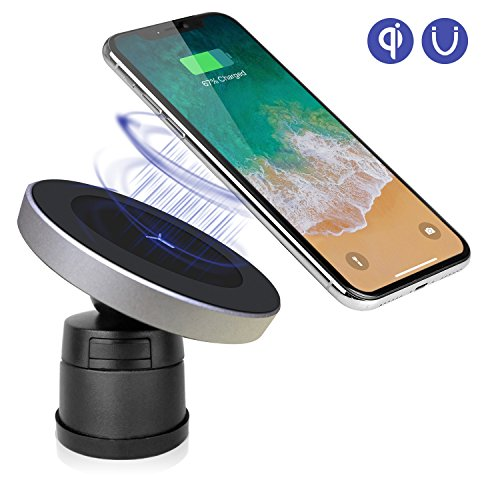 Qinoren Magnetic Wireless Car Charger Air Vent Phone Holder,Wireless Charging for Samsung S9/S9+/S8/S8+/ Note 8;Compatible With iPhoneXS/XS Max/XR/X/8/8 Plus and All QI-Enabled Devices(No Car Charger)