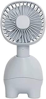 SHANGRUIYUAN-Mini Fan Multifunction Portable Fan Cartoon,Mini Desk Table Handheld Fan,USB Rechargeable Ventilator Device Cooling Fan Soothing with Third Gear Wind (Color : Blue)