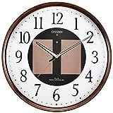 シチズン ソーラー電源電波掛時計 エコライフ 木目仕上 4MY807-023