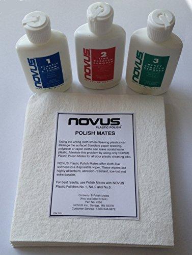 Novus Acryl Kratzer Entferner Polish Kit mit 6Novus Mates Tücher