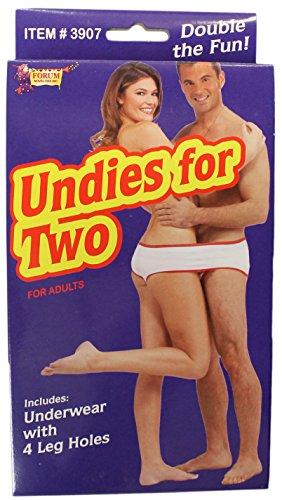 Forum Novelties Adult Undies for Two (Underwear with 4 Leg Holes!)
