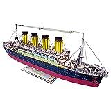 KUKU Puzzle 3D De Madera, Titanic Corte Láser Rompecabezas De Madera De Construcción Conjunto Asamblea Modelo - Regalo Creativo for Niños Y Adultos