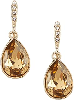 Givenchy Crystal Pear-Shaped Drop Earrings Faux Topaz