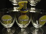6Ricard Gläser mit Sonnenmotiv, 17cl, Höhe:10cm, inkl. 1Ricard Flaschenausgießer als...