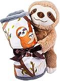 Heatable Weighted Lap Pad for Kids & 9' Sloth Plush- Microwavable Stuffed Animal Heating Pad Bundle-Weighted Lap Blanket for Kids- Toddler Sensory Lap Blanket -Weighted Stuffed Animals