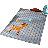 Cusphorn Fawn Stars Cotton Baby Crawling Mat Washable Play Mat Kid's Room Decor Floor Rugs