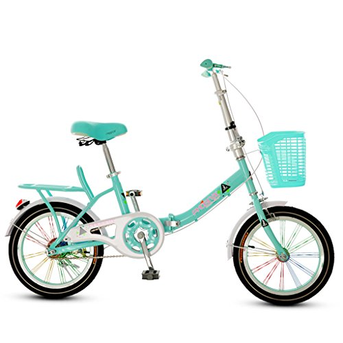 Bicicleta Plegable para Niños Bicicleta de Niños y Niñas DE 16 Pulgadas...