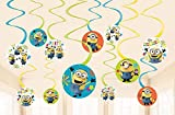 'Despicable Me' Multicolor Foil Swirl Party Decorations, 12 Ct.