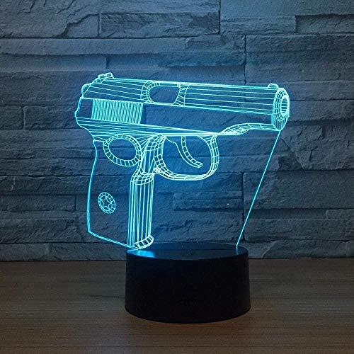 Nachtlicht Pistol Touch Kleiderschrank Nachttischlampe USB Anpassbares Geschenk USB Led Kinderlampe Leuchten