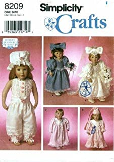 Simplicity 8209 Crafts Sewing Pattern 18 inch Doll Clothes