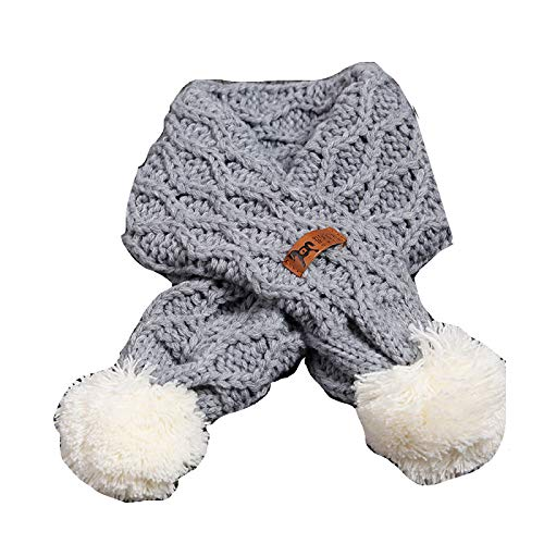 Buy and buy at Brandon Baby Scarf Winter Boy Baby Girl Soft Warm Wool Scarf Children's Wild Ball ScarfGrayA