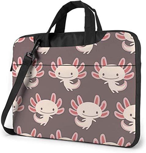 Niedlicher Molch Axolotl Stoßfester Laptop Schulter Menger Tasche Laptoptasche Ärmel Laptop Aktentasche Busin Handtasche