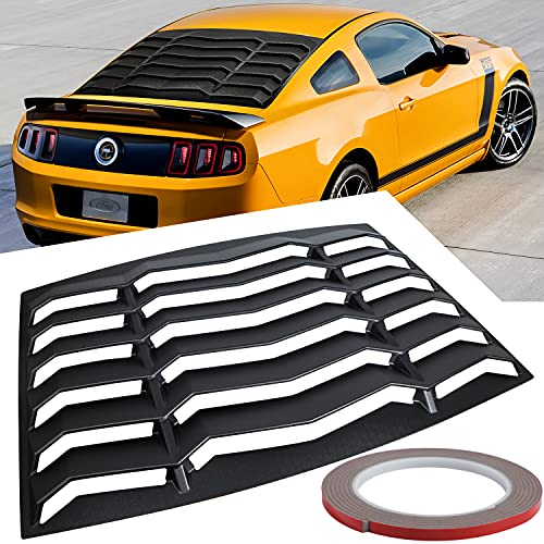 Rear Window Louvers for Ford Mustang 2005 2006 2007 2008 2009 2010 2011 2012 2013 2014 ABS Windshield Sun Shade Cover Lambo Style Matte Black