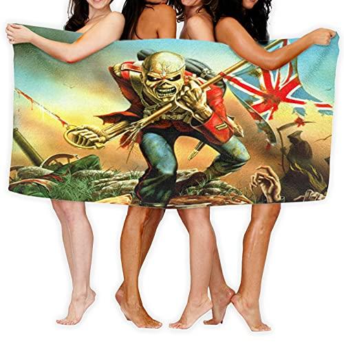 Cute Pillow Iron Maiden Toallas de playa de calidad premium 100% algodón Jumbo toalla de baño, muy absorbente, súper suave y de secado rápido