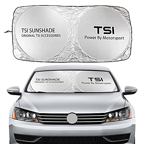 XDRE Parasol Coche Solshades de Parabrisas de automóviles compatibles con VW Volkswagen...