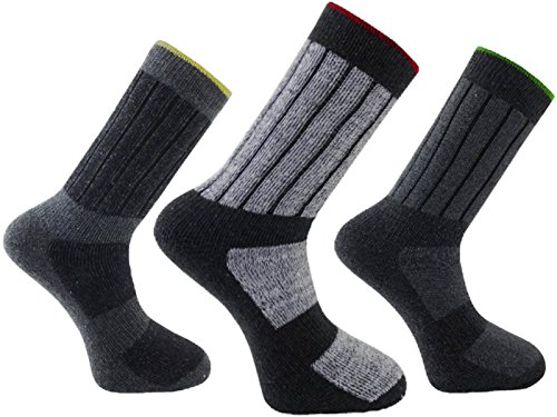 HDUK Mens Socks 6x Paar Herren katotm urbanwear strapazierfähige Arbeit Socken/UK 6–11& UK 11–14 Gr. Large, sortiert