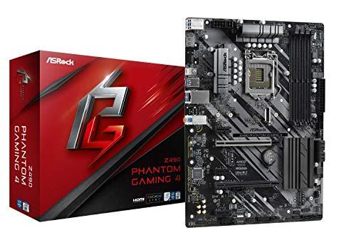 Asrock Z490 Phantom Gaming 4 Intel Z490 ATX Motherboard, 1200 Socket, 4 DDR4, CrossFireX, HDMI, M.2