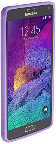 Galaxy Note 4 case, Nupro Lightweight Projective Bumper Case Cover for Galaxy Note - Clear/Purple
