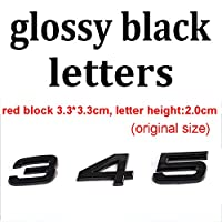 BBYT Rs 3 4 5 6 7 8 RS3 RS4 RS6 RS7 RS8 RS8 ABS車のスタイリングトランクバッジステッカー (Color : Glossy black trunk, Style : RS3)