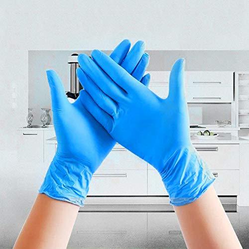 20 stks/set wegwerphandschoenen latex voor thuisreiniging medisch/voedsel/rubber/tuinhandschoenen universeel voor links en rechts, hemelsblauw, m