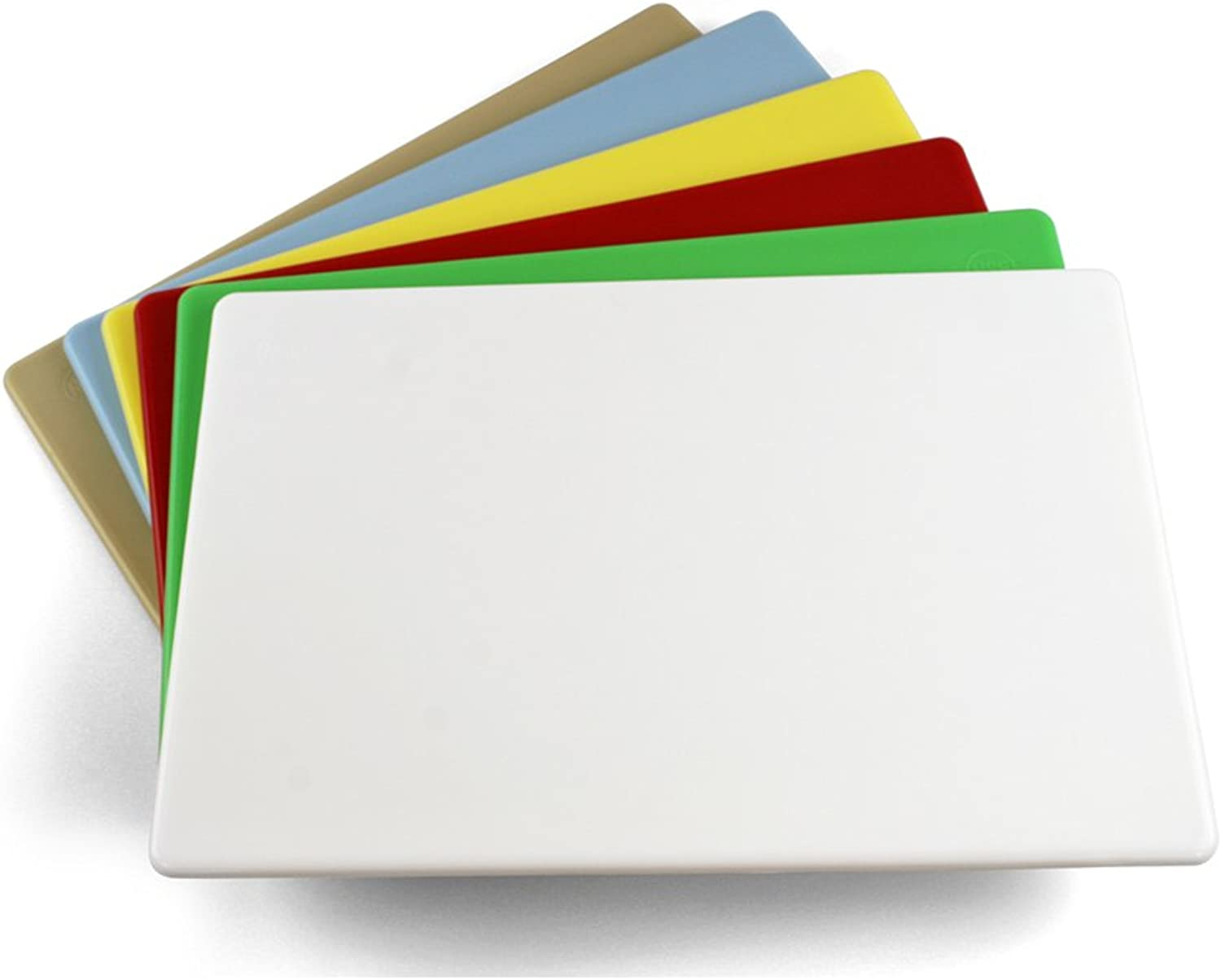 Commercial Plastic Cutting Board NSF, Extra Large - 24 x 18 x 0.5 Inch (6 Multiple colors)
