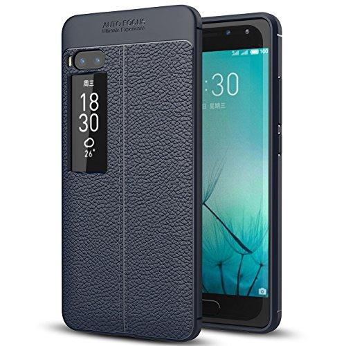 Meizu Pro 7 Plus Case, Meizu Pro 7 Plus Faux Leather Case, Soft Case Anti-Slip TPU Cover for 5.7'' Meizu Pro 7 Plus [NOT fit 5.2'' Meizu Pro 7]