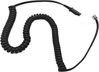 AvimaBasics Amplifier Coil Cord to QD Modular Plug   Stretchable, Durable, Quick Connect & Disconnect Grips & Ergonomic Cable   for H-Series Headsets, Cisco 7900 Series Phones - 26716-01