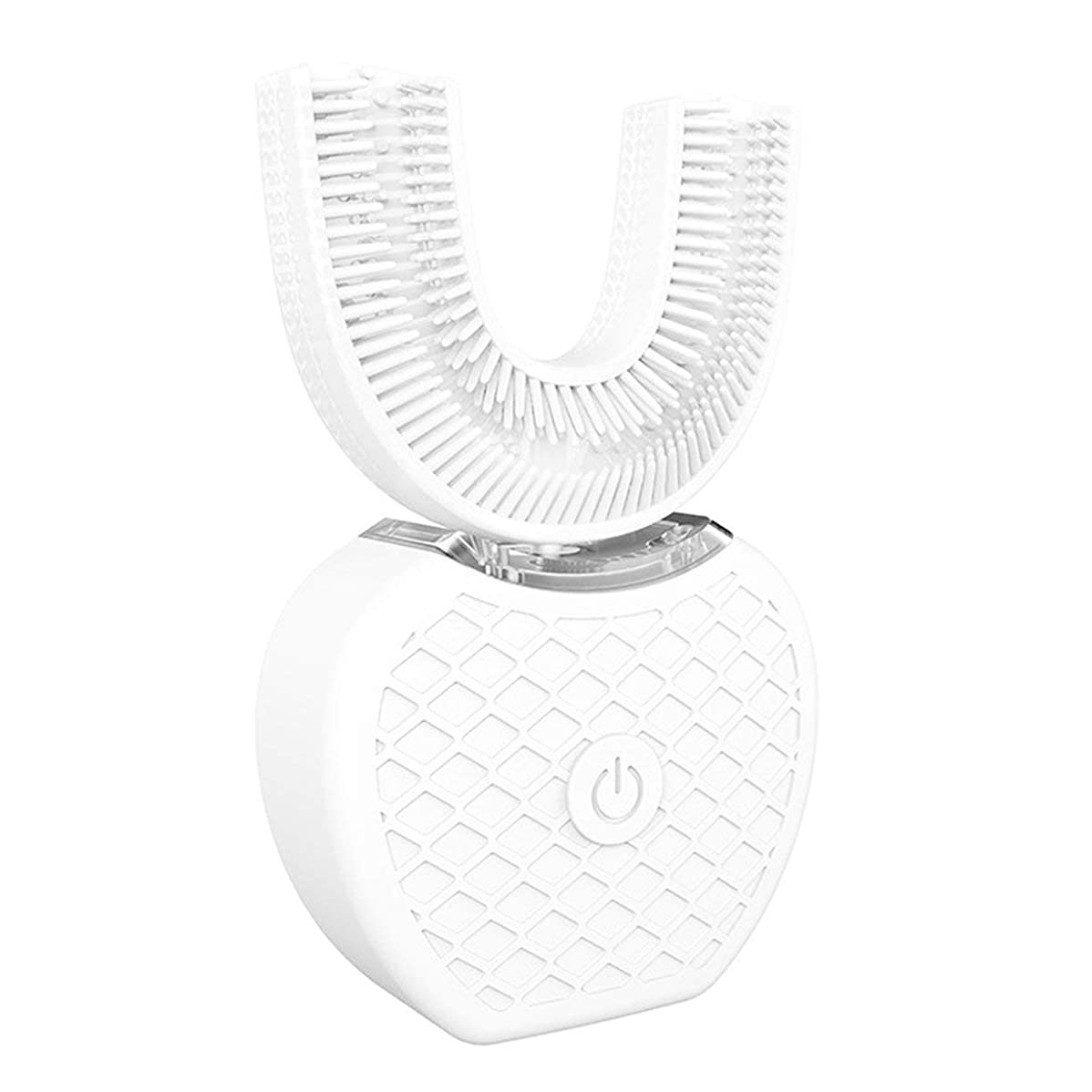 スワップ新聞外出360°ワイヤレス充電怠惰な自動ソニックシリコーン電動歯ブラシ - ホワイト