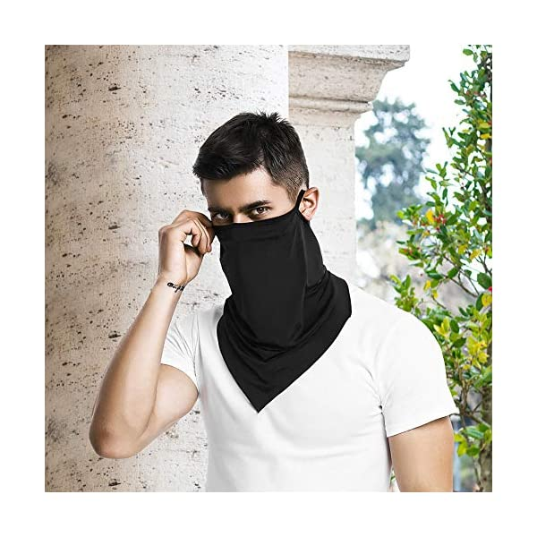 Unisex Bandana Face Scarf Earloops Face Cover for Dust Wind Neck Gaiter
