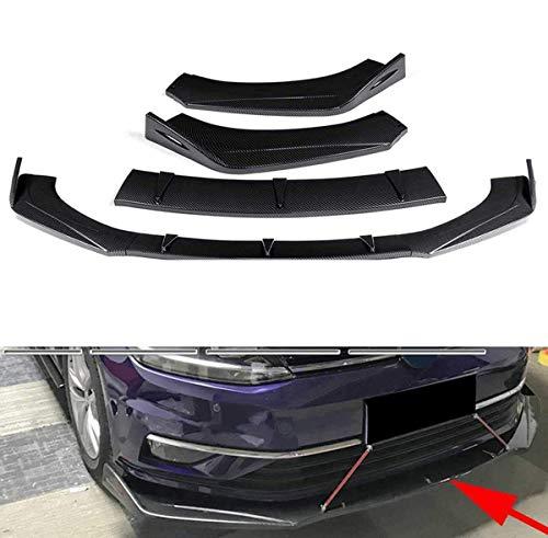 VTDOUQ 2Pcs Carbon Look Auto Paraurti Anteriore Lip Spoiler Splitter Diffusore Canard Labbro per BMW E39 E46 E53 E90 E92 E93 E60
